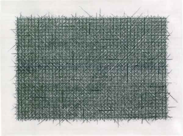 <b>Untitled</b><br/>Aquatint, dry-point and soft-ground on 2 copper plates, printed in 2 colours<br/><br/>60 x 80 cm, Magnani paper 86 x 120 cm<br/>2012<br/>Edition of 32, IV Artist proofs and 4 dedicated copies. Printed and published by 2RCCAFA - Beijing