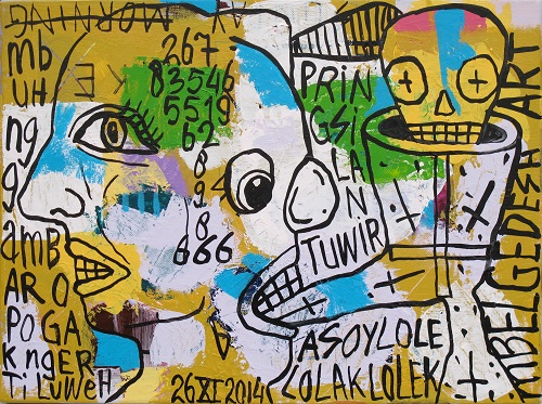 <b>Neighbourhood's Graffiti</b><br/>acrylic on canvas<br/><br/>30 x 40 cm<br/>2015<br/>