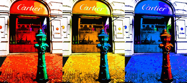 <b>Cartier (Triptych)</b><br/>Digital metallic c-print on polyester canvas<br/><br/>various sizes - 120 x 80 cm; 90 x 60 cm; 60 x 40 cm<br/>2015<br/>edition of 8
