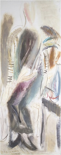 <b>Elegance</b><br/>oil on canvas<br/><br/>200 x 80 cm<br/>2005<br/>