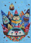 <b>Everybody wants to be King</b><br/>Acrylic on Canvas<br/><br/>150 x 110 cm<br/>2012<br/>