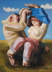<b>Sexy Couple</b><br/>Oil on Canvas<br/><br/>73 x 54 cm<br/>2004 <br/>