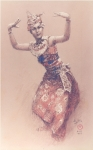 <b>Balinese Dancer 4 </b><br/>Pastel on Paper<br/><br/>53 x 33 cm<br/>1957 <br/>