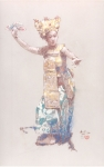 <b>Legong Dancer 1</b><br/>Pastel on Paper<br/><br/>60 x 38 cm <br/>1953 <br/>