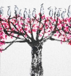 <b>Pink Tree No. 2506</b><br/>mixed media on canvas<br/><br/>94 x 88 cm<br/>2014<br/>