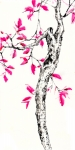 <b>Pink Tree</b><br/>mixed media on paper<br/><br/>136 x 68 cm<br/>2014<br/>
