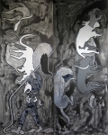 <b>Hide and Seek (Study 4)</b><br/>acrylic on canvas<br/><br/>152 x 122 cm (diptych)<br/>2013<br/>