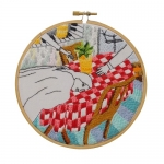 <b>The Twelve Rooms Series - Room #12</b><br/>wooden hoop, cotton embroidery thread, cotton canvas<br/><br/>Ø 15.2 cm<br/>2016<br/>