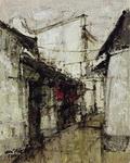 <b>Alley, China</b><br/>Acrylic on Canvas<br/><br/>76 x 60 cm<br/>2008<br/>
