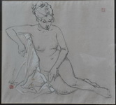 <b>Nude</b><br/>Pastel on paper<br/><br/>43 x 47 cm<br/>1975<br/>